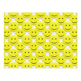 so viele smiley postkarte