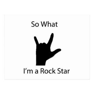 So, was ich ein Rockstar bin Postkarte