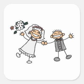 Sobre La boda sello adhesivo