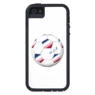 "Soccer ball ""U_._S_._A."". Ball des Fußballs von E. iPhone 5 Etuis"