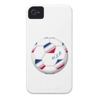 "Soccer ball ""U_._S_._A."". Ball des Fußballs von E. iPhone 4 Cover"