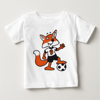 soccer fox baby t-shirt