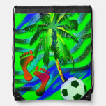 Soccer on the beach sportbeutel