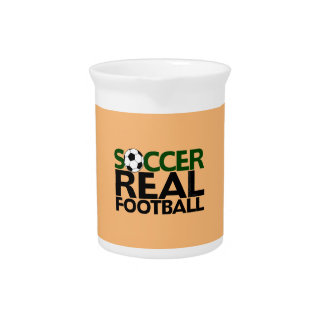 Soccer=Real Fußball Getränke Pitcher