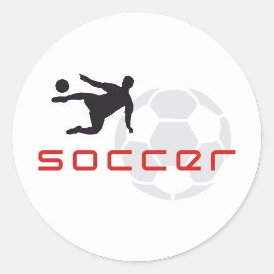soccer runder aufkleber