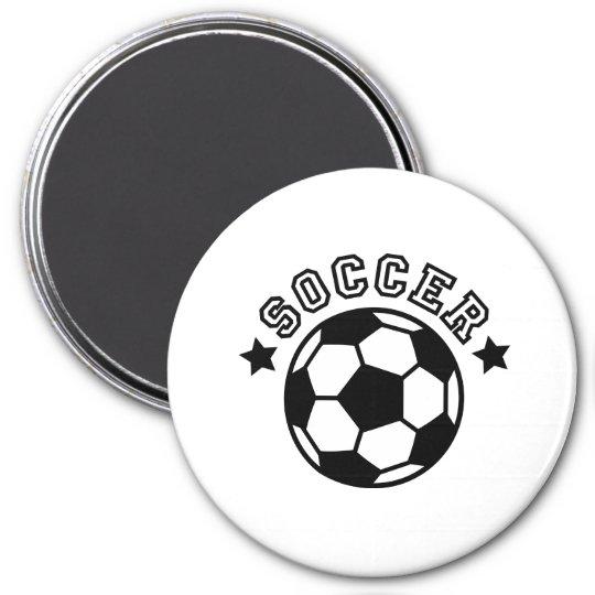soccer runder magnet 7,6 cm