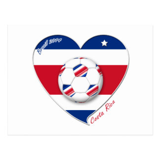 "Soccer Team ""COSTA RICA"" FUSSBALL nationaler Postkarten"