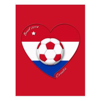"""Soccer Team """"CROATIA"""". Fußball von Kroatien 2014 Postkarten"""