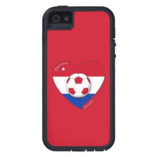 "Soccer Team ""CROATIA"". Fußball von Kroatien 2014 Tough Xtreme iPhone 5 Hülle"