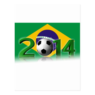 Soccer World Cup 2014 Postkarte