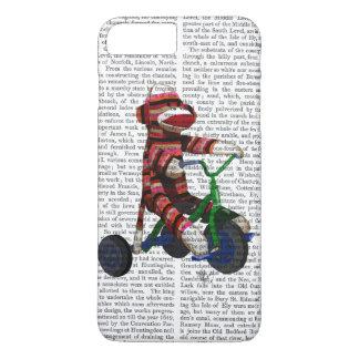 Socken-Affe auf Dreirad iPhone 8 Plus/7 Plus Hülle