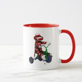 Socken-Affe auf Dreirad Tasse
