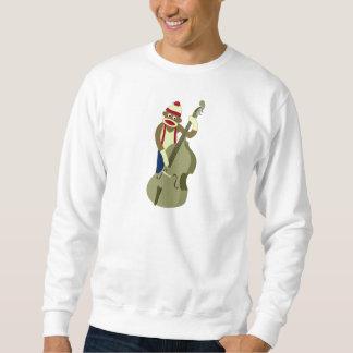 Socken-Affe-aufrechter Bass-Spieler Sweatshirt