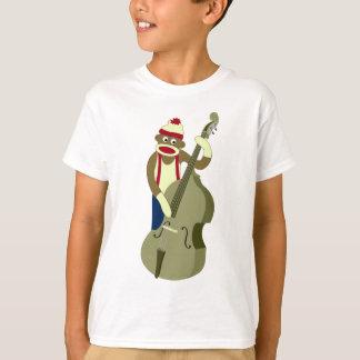 Socken-Affe-aufrechter Bass-Spieler T-Shirt