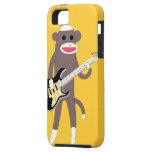 Socken-Affe-Felsen mit E-Gitarre - Iphone 5 iPhone 5 Etuis