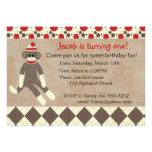 Socken-Affe-Geburtstags-Einladung