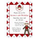 Socken-Affe-Geburtstags-Party Einladungen