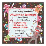 Socken-Affe-Geburtstags-Party Einladungs-Karte Individuelle Einladung