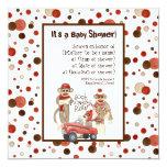 Socken-Affe, Jungen-Geburtstags-Party Einladung Quadratische 13,3 Cm Einladungskarte