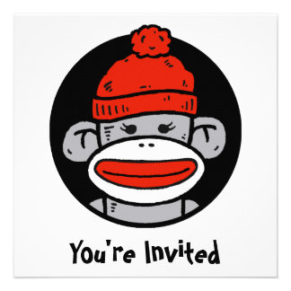 Socken-Affe-Karte Einladung