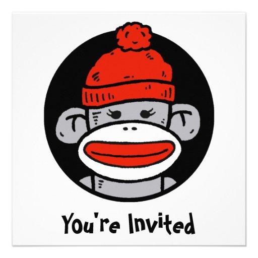 Socken-Affe-Karte/Einladung