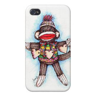 Socken-Affe - krummer Tour iPhone 4 Schutzhüllen