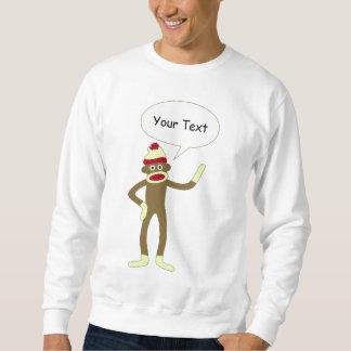 Socken-Affe-kundengerechte Comic-Sprache-Blase Sweatshirt