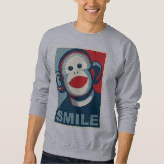 Socken-Affe-Lächeln Sweatshirt