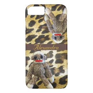 Socken-Affe-Leopard-Druck iPhone 8/7 Hülle