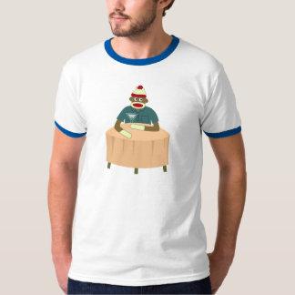 Socken-Affe-Martini-Nachtklub Tshirts