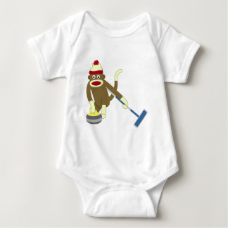 Socken-Affe-olympisches Winden Baby Strampler