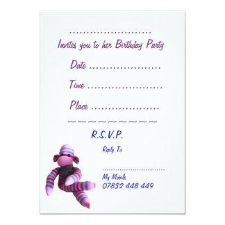 Socken-Affe-Party Einladung