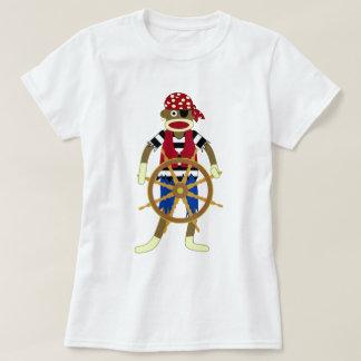 Socken-Affe-Pirat T-Shirt
