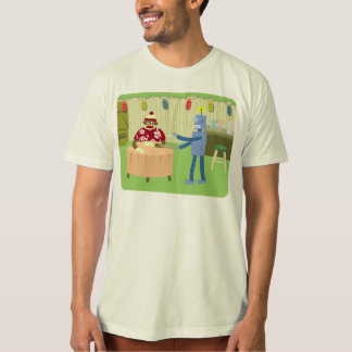 Socken-Affe-Roboter-Kellner T-Shirt