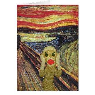 Socken-Affe-Schreikarte Karte