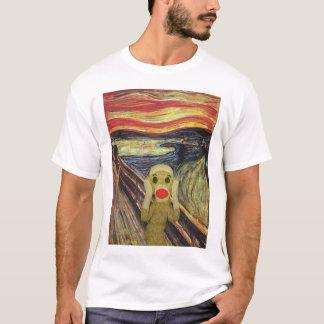 Socken-Affe-Schreiweiß T - Shirt