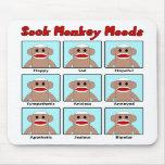 Socken-Affe-Stimmungen Mousepad