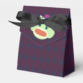Socken-Affe u. Biene Geschenkschachtel