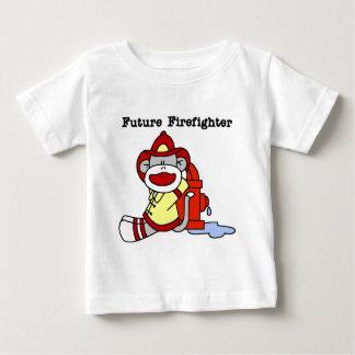 Socken-Affe-zukünftige Feuerwehrmann-T-Shirts und Baby T-shirt