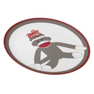 Socken-alberne Affe-Platte Teller