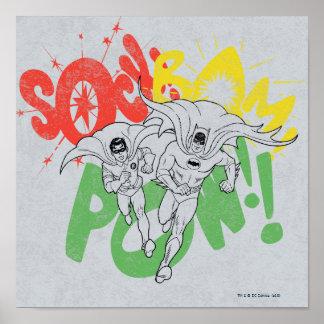 SOCKEN-Bam-KRIEGSGEFANGEN Batman und Robin Plakatdruck