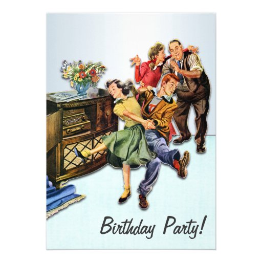 Socken-Hopfengeburtstags-Party Retro Einladung
