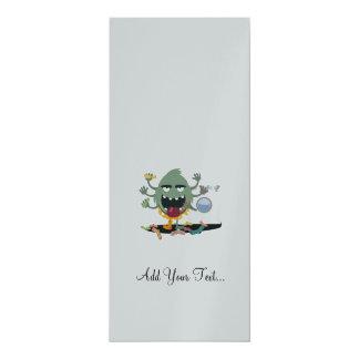 Socken-Monster 10,2 X 23,5 Cm Einladungskarte