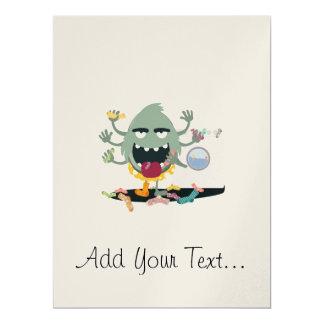 Socken-Monster 16,5 X 22,2 Cm Einladungskarte