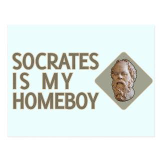 SOCRATES ist mein Homeboy Postkarte