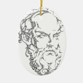 SOCRATES-Verzierung Ovales Keramik Ornament