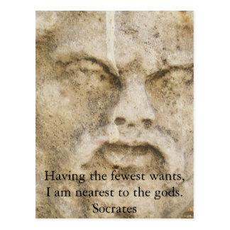 SOCRATES-ZITAT POSTKARTE