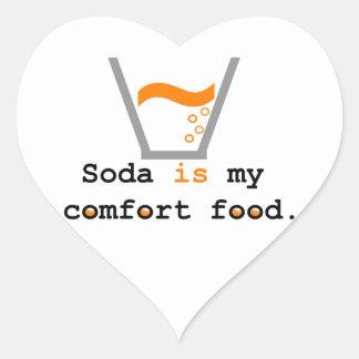 Soda ist meine Komfort-Nahrung Herz-Aufkleber