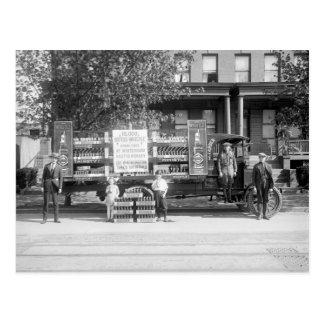 Soda-Pop-Lieferwagen, frühe Zwanzigerjahre Postkarte