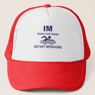 Sofortige Mitteilung für Schwimmer Truckerkappe